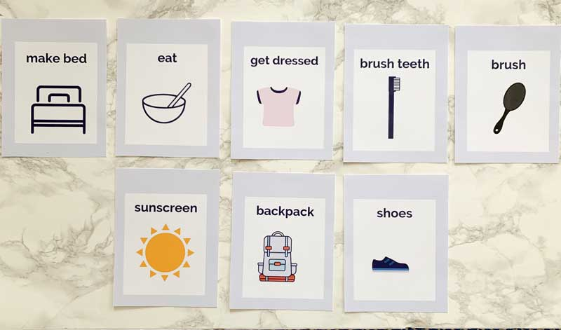 daily routine cards for kids