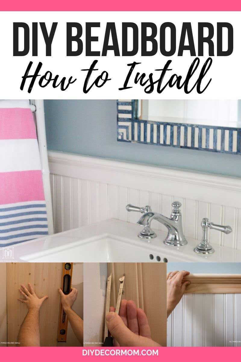 beadboard bathroom tutorial--how to install beadboard walls
