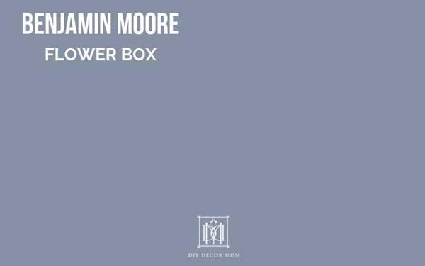 benjamin moore flower box--fantastic dark blue gray paint color
