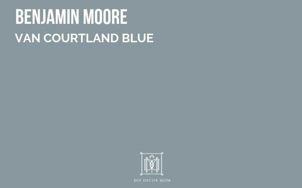 benjamin moore van courtland blue--great dark gray paint color with blue undertones