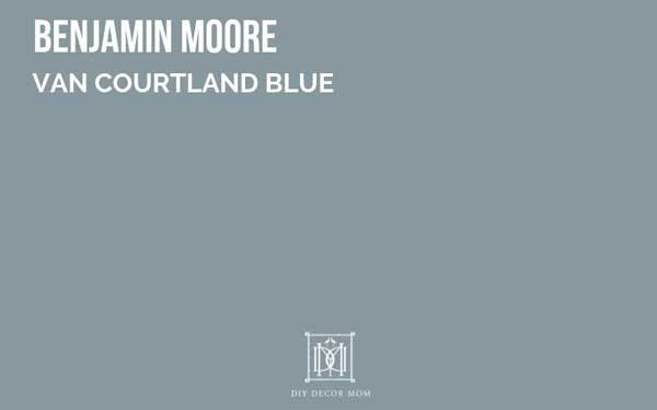 benjamin moore van courtland blue--great dark gray paint color with blue undertones