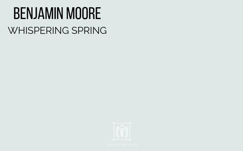 benjamin moore whispering spring