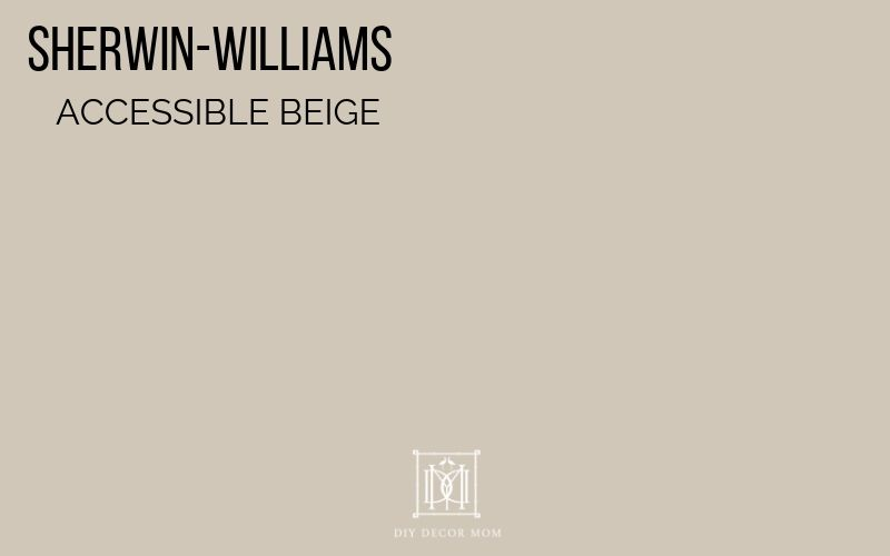 accessible beige sherwin-williams paint chip