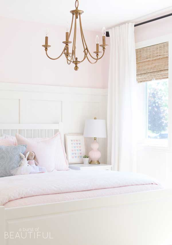 benjamin moore pink bliss painted bedroom- a burst of beautiful