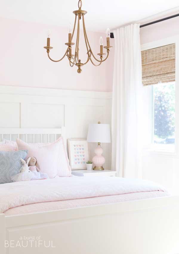 benjamin moore pink bliss painted bedroom- a burst of beautiful