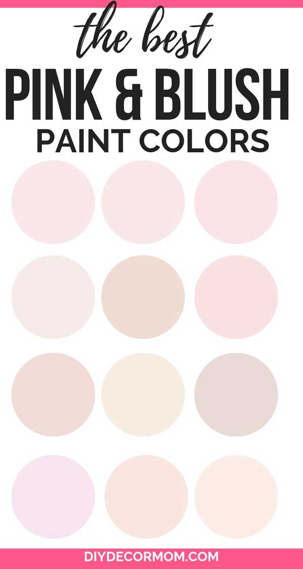 pink paint colors- best picks from sherwin williams and benjamin moore