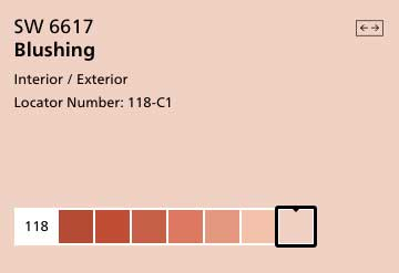 sherwin williams pink paint color chip with undertones and similar colors