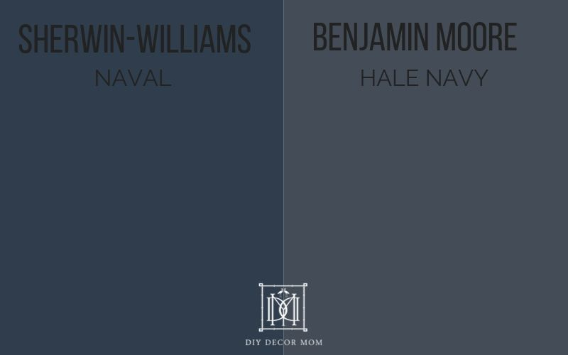 sherwin-williams naval vs hale navy