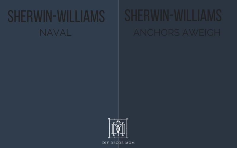 sherwin-williams naval vs. sherwin-williams anchors aweigh