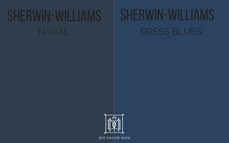 sherwin-williams naval vs. dress blues