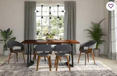 modern industrial dining room painted greige
