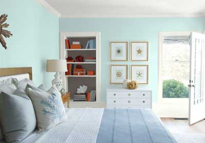 benjamin moore iced green bedroom walls- great light blue paint