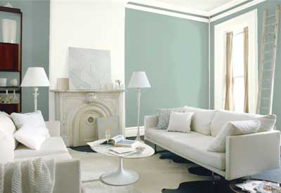 best light blue paint colors in living room- benjamin moore wythe blue