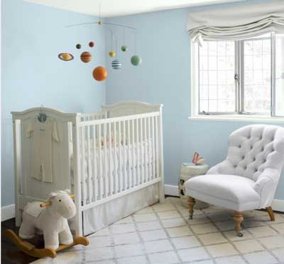 light blue nursery- benjamin moore breath of fresh air