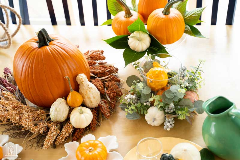 how to decorate your table for fall