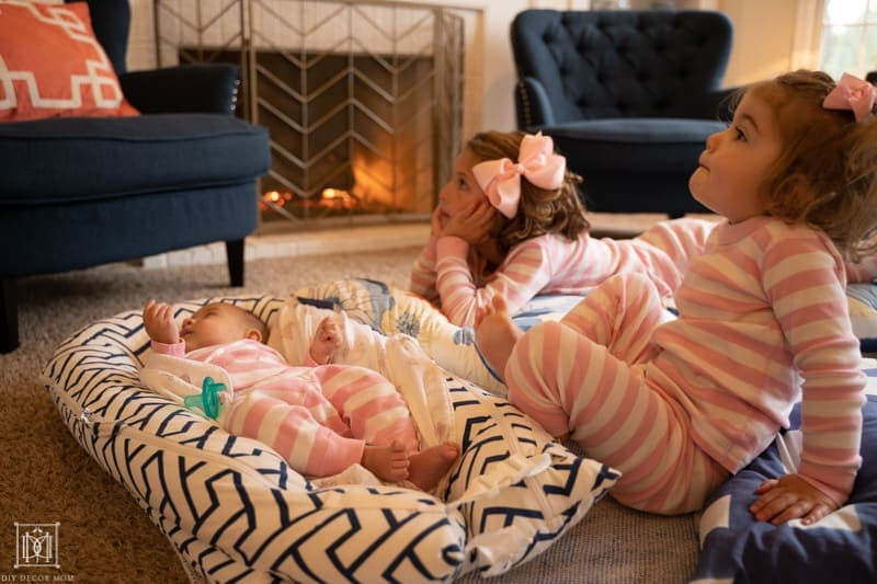 ways to make your house cozier--light a fire and watch a movie
