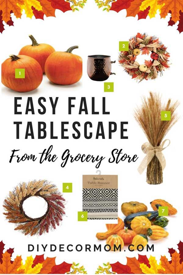 easy fall tablescape from meijer