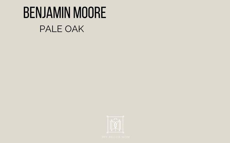 Benjamin Moore pale oak