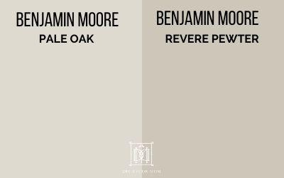 pale oak vs revere pewter