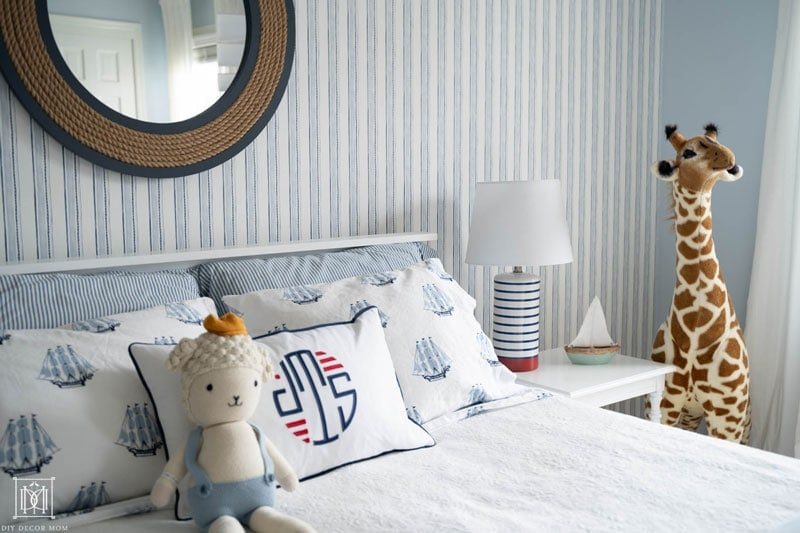 nautical stripe wallpaper by serena and lily