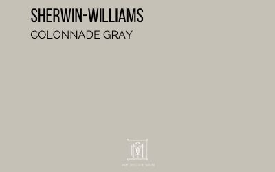 sherwin williams colonnade gray paint chip