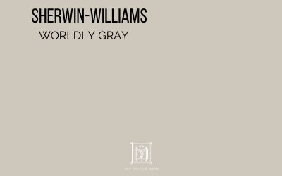 sherwin williams worldly gray paint chip