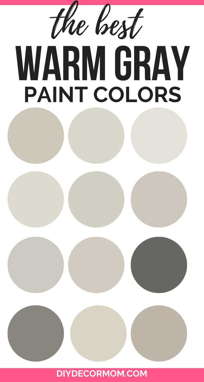 best warm gray shades from benjamin moore and sherwin williams