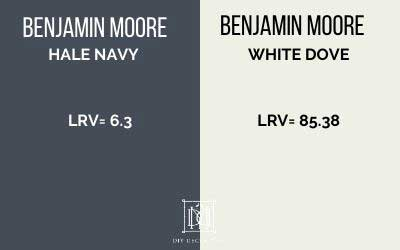 lrv of hale navy and white dove compared