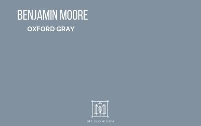 benjamin moore oxford gray