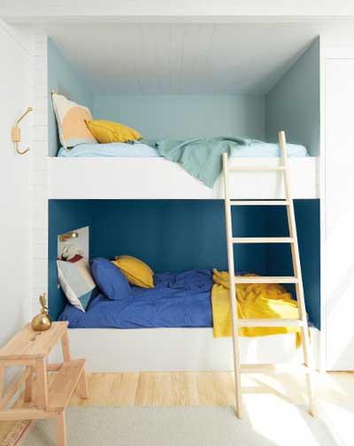 benjamin moore blue danube bunk beds