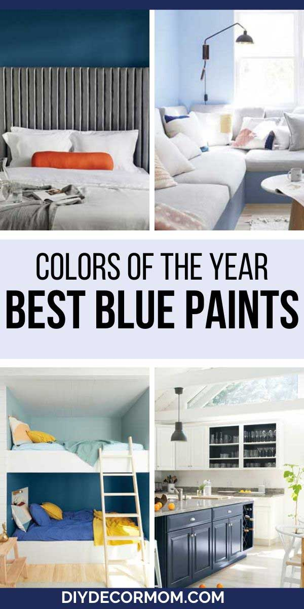 blue paint colors in several rooms
