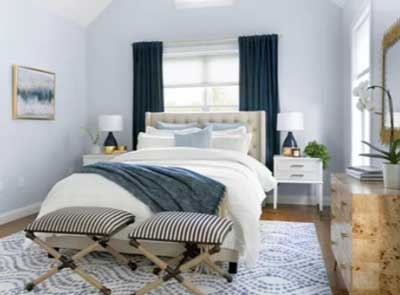 cool blue color bedroom