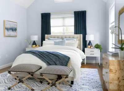 cool blue color bedroom