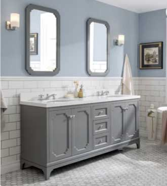 blue gray bathroom on trend paint colors 2020