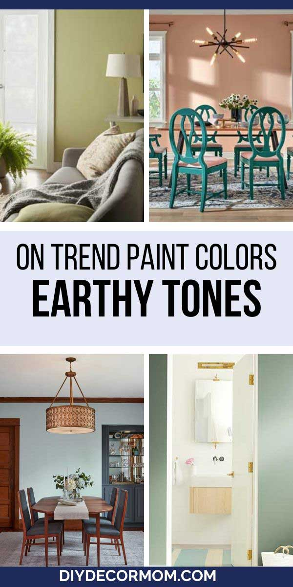 see the best on trend paint colors of 2020 including these earthy paint colors from behr, valspar, and benjamin moore!