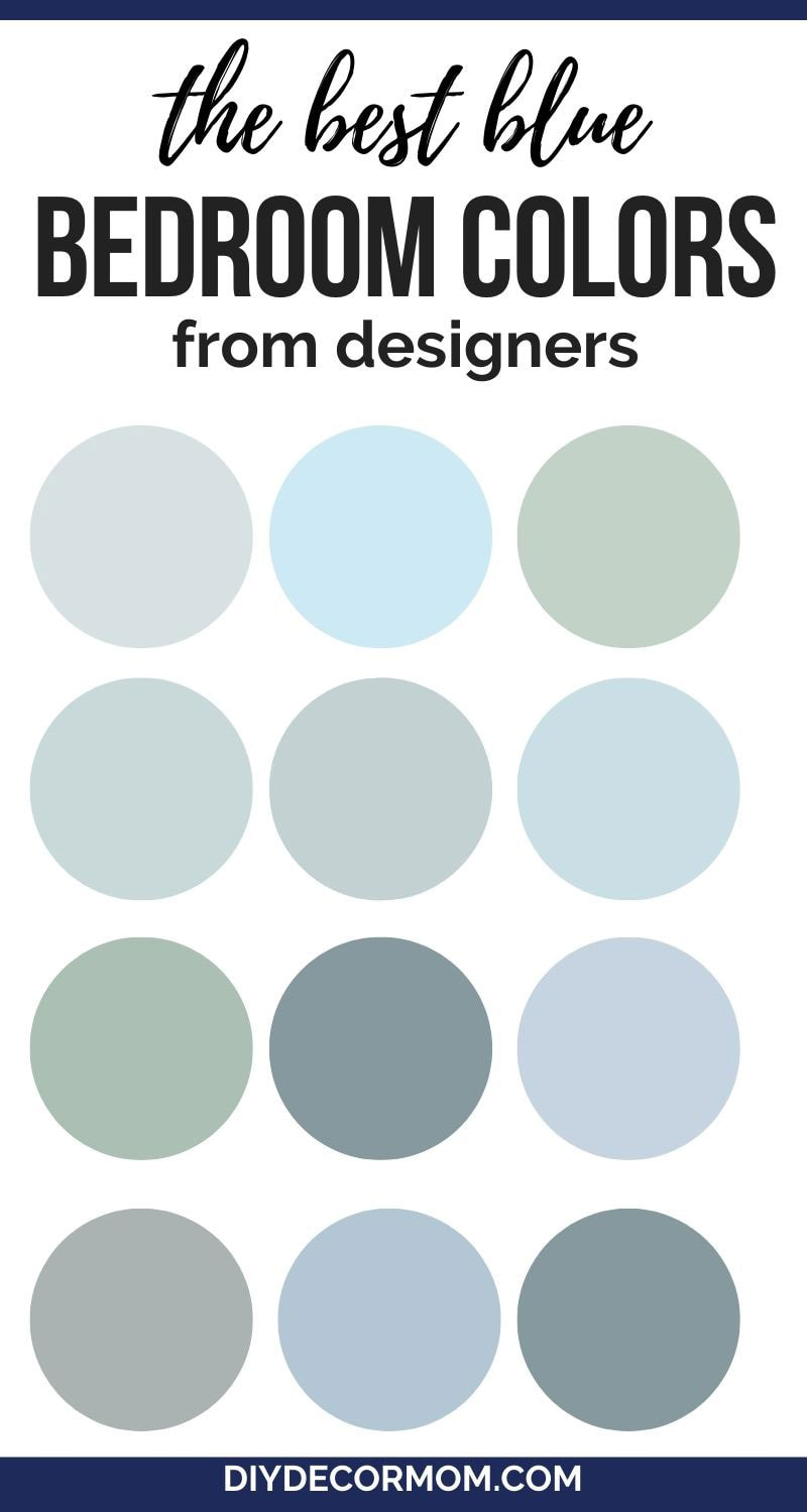 blue paint shades for bedroom