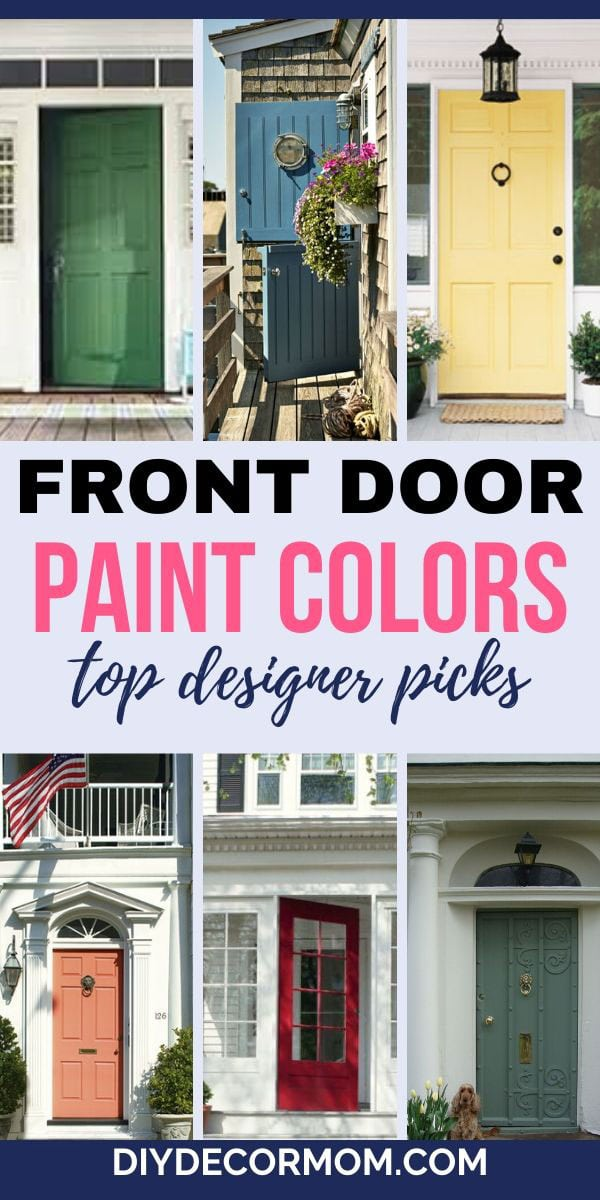 what are the best front door paint colors