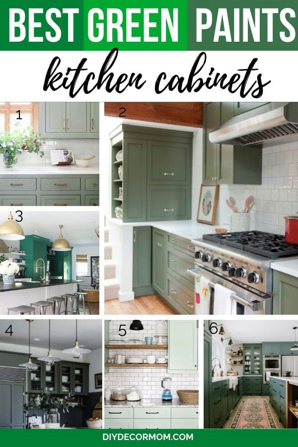 green painted kitchen cabinets