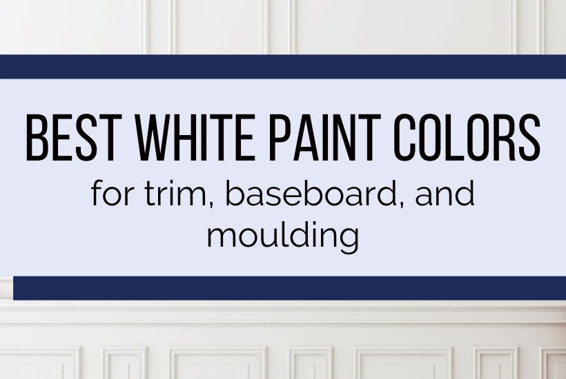 best white paint colors for trim and base