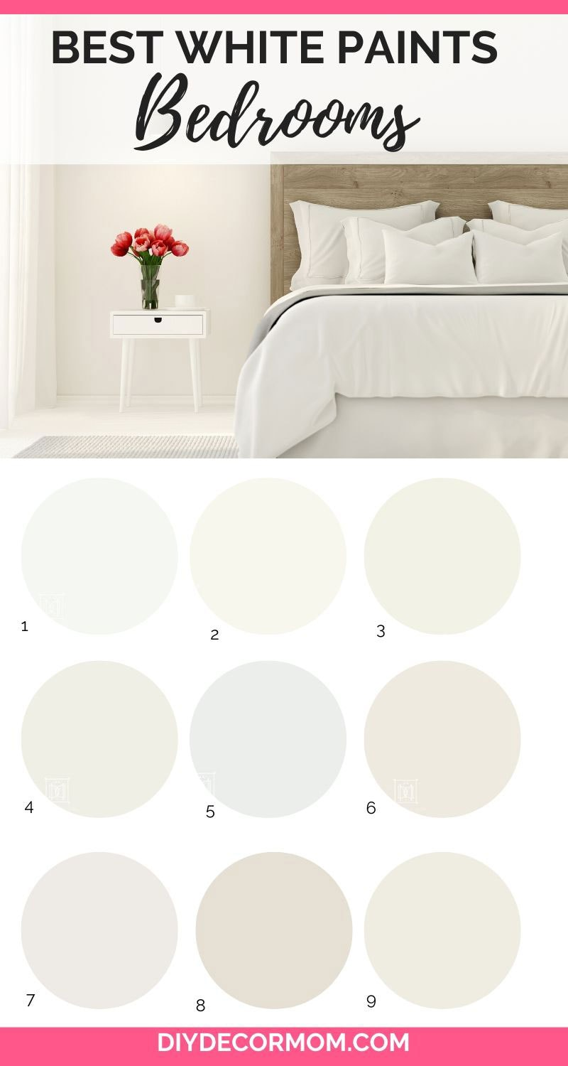 cream bedroom photo with 9 best white paint colors for bedrooms
