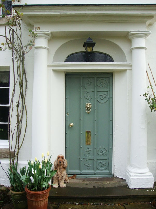 Farrow and Ball Card Room Green door paint color