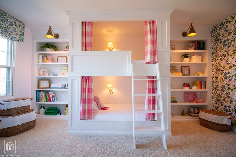 girls bunk room makeover before and after