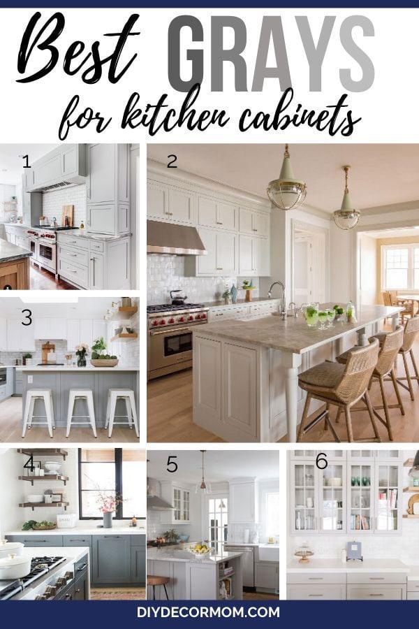 best gray kitchen cabinet paint colors