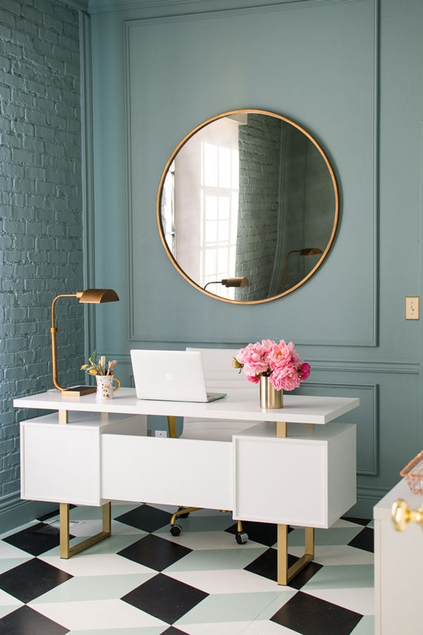 Farrow and Ball Oval Room office by House that Lars Built