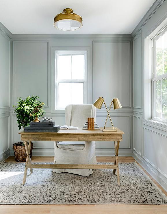 blue-gray and green paint colors for your home office