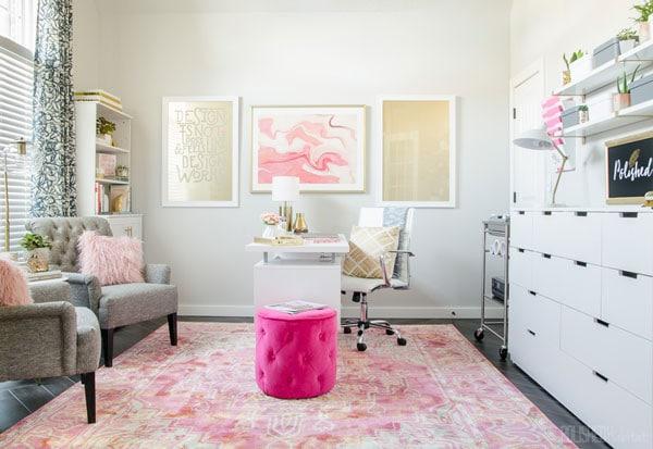 light gray office walls- polished habitat