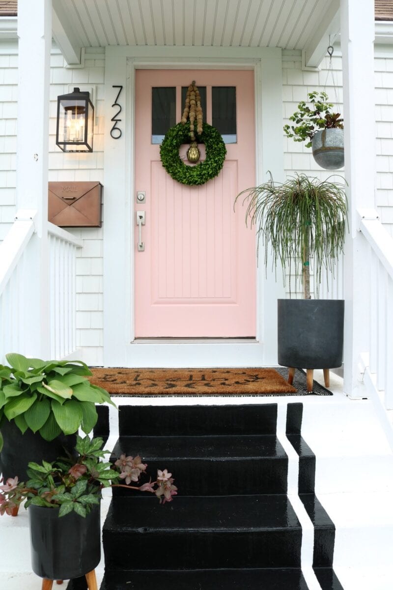 SW Coral Perfection front door by Nesting with Grace