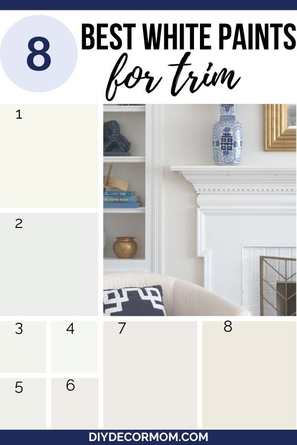 best white shades of paint for trim