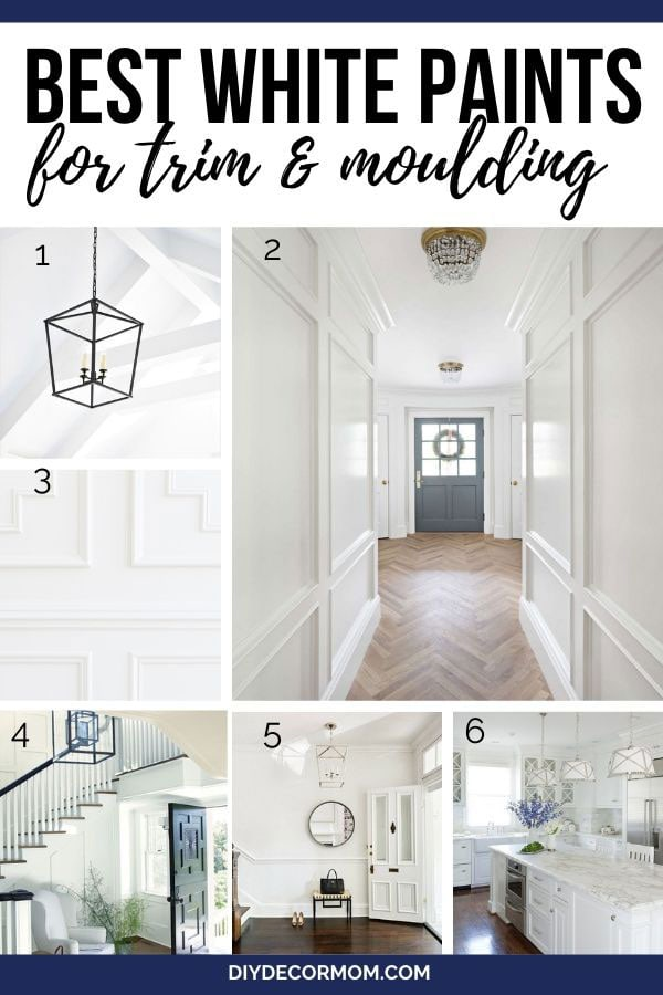 white painted trim and walls