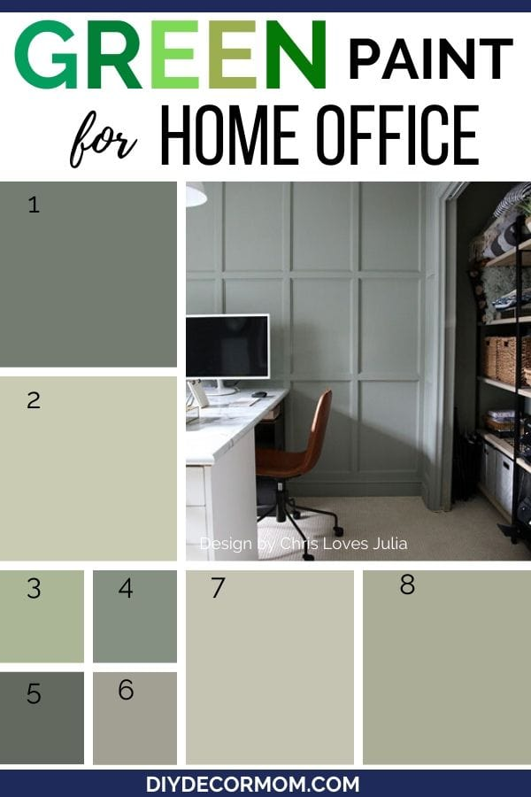 best green paint tones for home office